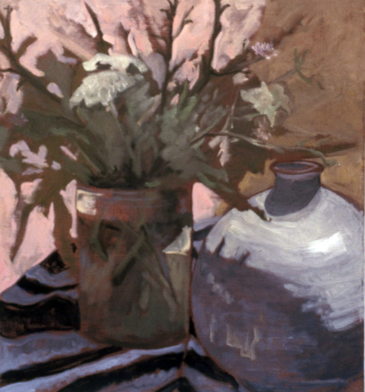A GATHERING- oil on canvas- 20 .75 x 22.75- 1985