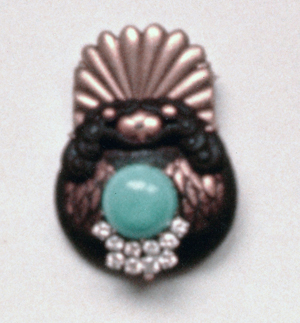 #70 JAPANESE NETSUKE_  turquoise, diamonds.jpg