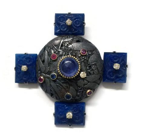 #69 MANJU NETSUKE , carved lapis lazuli, rubies, sapphires,  .jpg