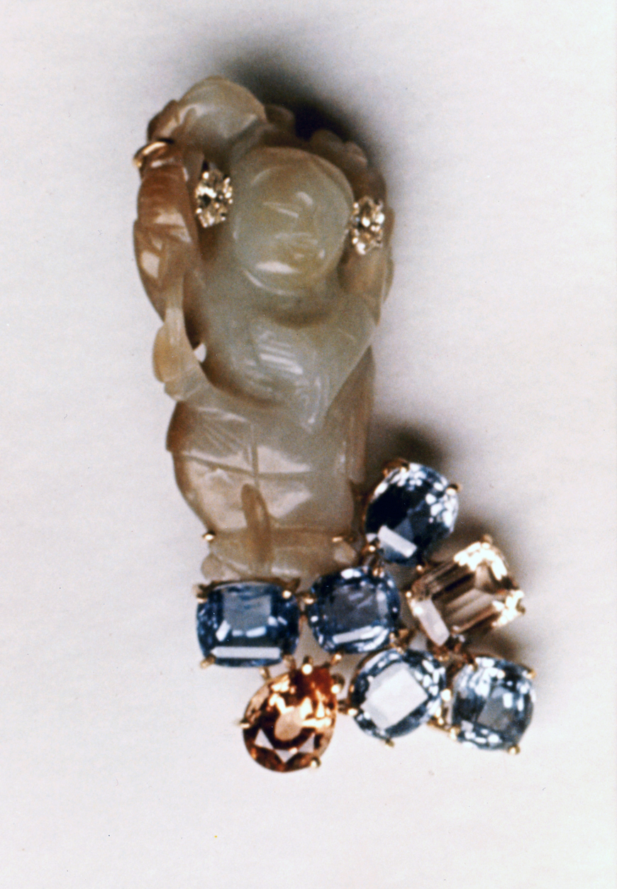 #68 JADE FIGURE Ceylon sapphires, diamonds.jpg