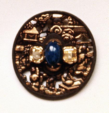 #67 LANDSCAPE TSUBA lapis lazuli, Ceylon sapphires .jpg