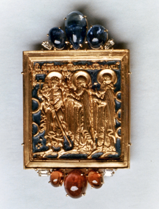 #61 RUSSIAN TRAVELING ICON_ cab sapphires, rubies, diamonds .jpg