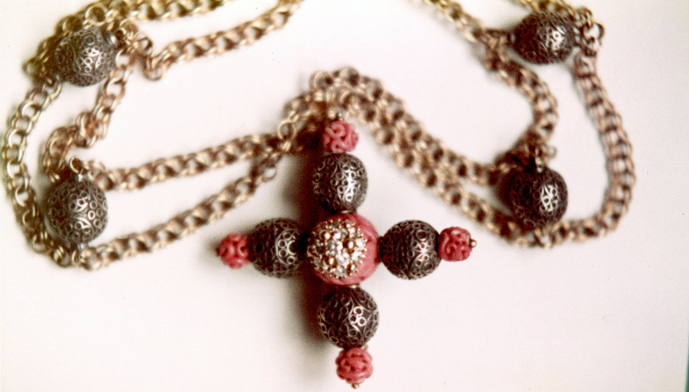 #131 ANATOLIAN BEADS CARVED CORAL_ diamonds .jpg