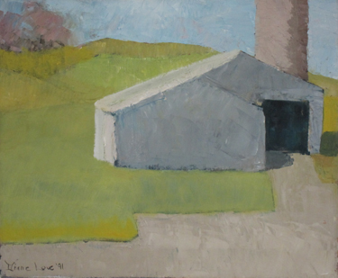 SPRING BARN-oil on canvas- 14 x17 - 1991