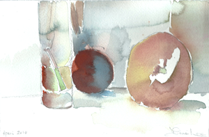 STEM CLEMEMTINE- watercolor- 6x 9- 2011