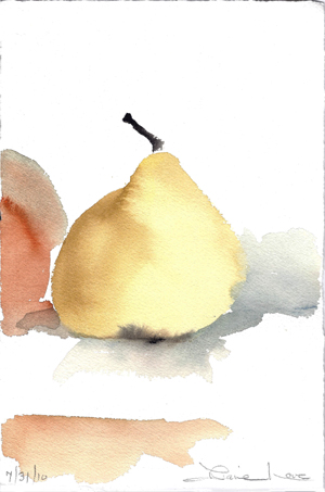 PERFECT PEAR-watercolor- 15 x 11- 2011