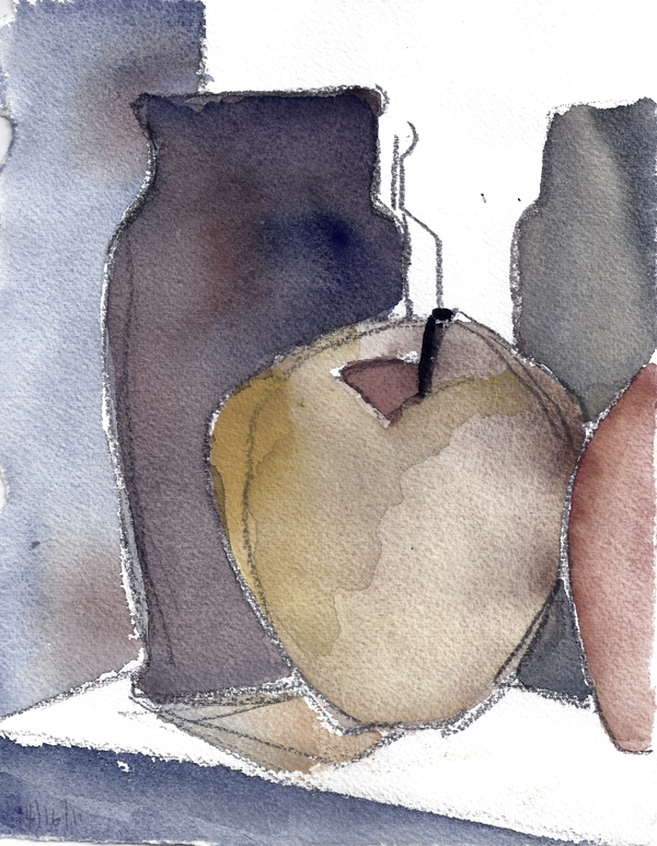 APRIL 16 #-watercolor- 10 x 6.75- 2011