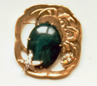 #75 CRAB TSUBA malachite, diamonds.jpg