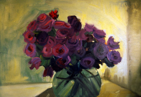 ROSE BOWL- 40 x 48- oil on canvas- 1996