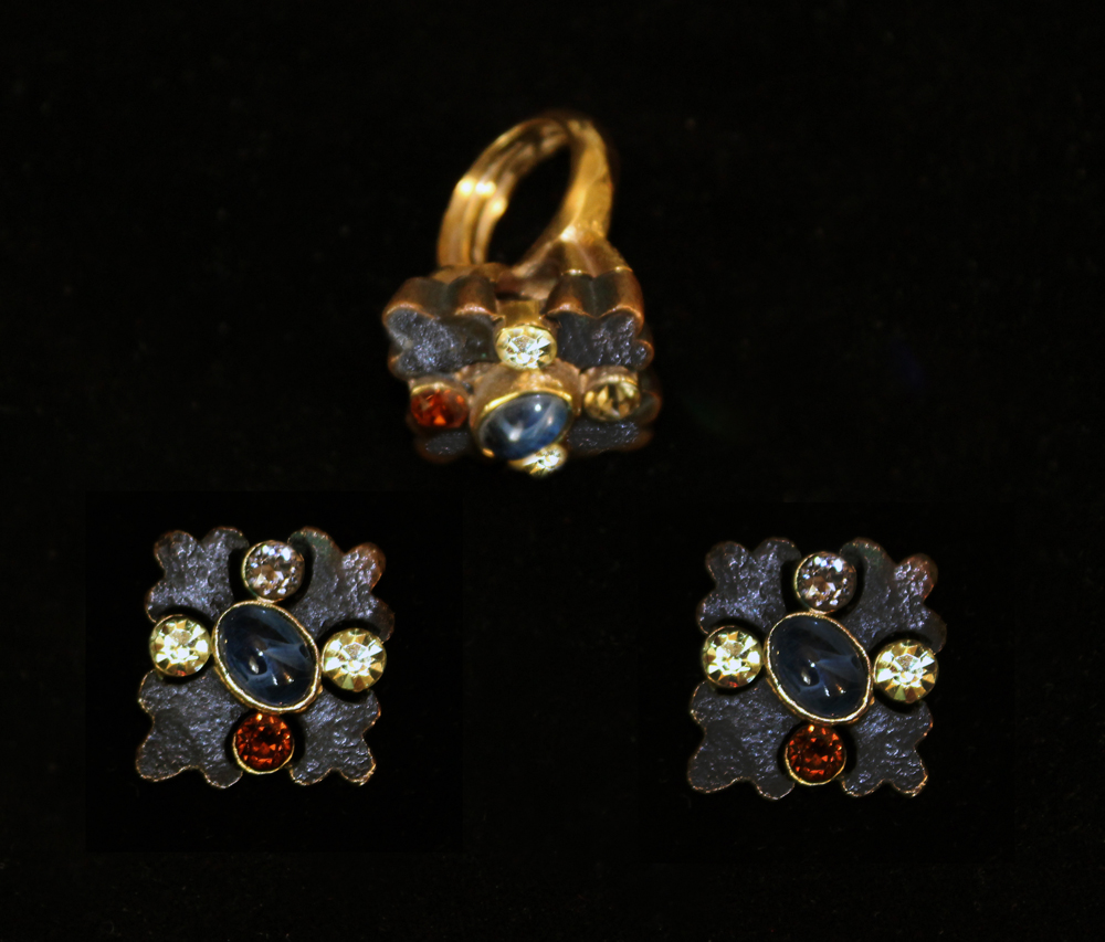 ROMANESQUE EARRINGS & RING-1970
