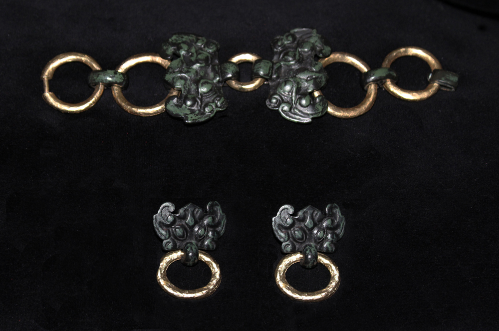 CHINESE EARRINGS & BRACELET-1970