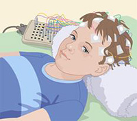 A child having an EEG, from kidshealth.org