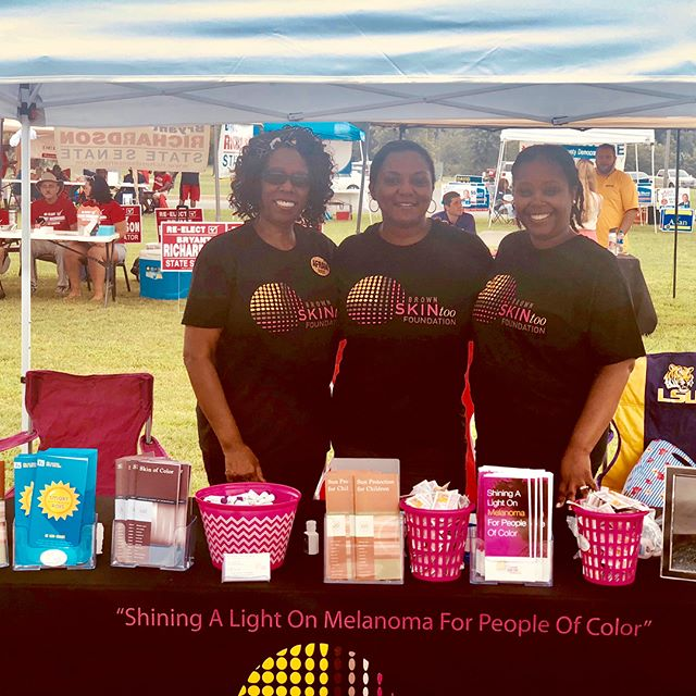 Sharing Tanya's story in order to make a difference in people's lives is what we strive to do each and every day. We had a great time at the 2018 Eastern Shore Afram Festival spreading awareness and educating attendees on the importance of skin protection. Thank you to all who stopped by our table, and a special thank you to our volunteers Dr. Nicole Bell Rogers  and @Charlotte Scott-Coleman for taking time out of their Saturday to be a part of our team! You two are awesome 👏🏾 #brownskintoo #skincancerawareness  #skincancer #melanoma #melanomaawareness #protectyourskin #shinethelight #spf