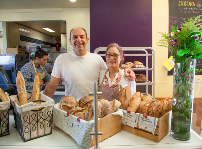 Joseph Abrakjian and Pam Watanabe of SEED Bakery, Photography by  Ann Cutting