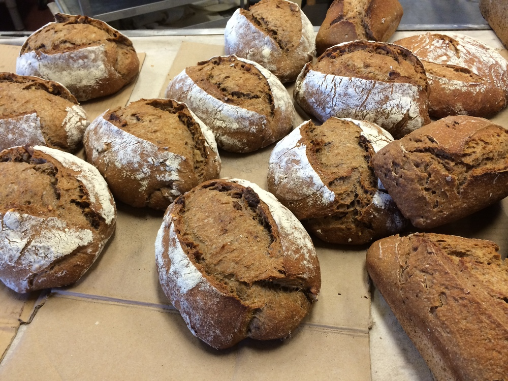 Joseph's beautiful bread, straight out of the oven.