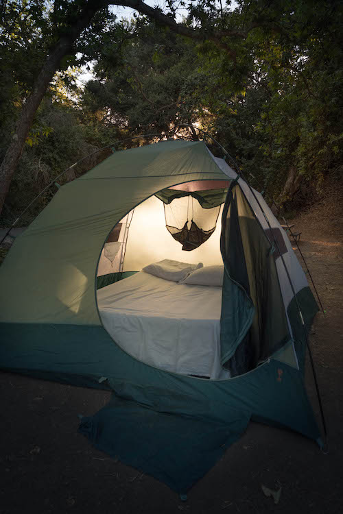 Tent at the Cerro Alto Campsite, Atascadero, CA. Photograph by  Dennis Keeley