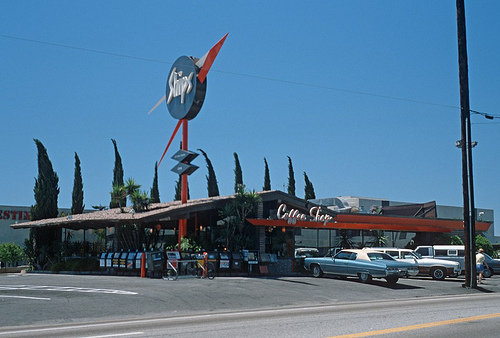 Ships Coffee Shop in west Los Angeles, circa 1980