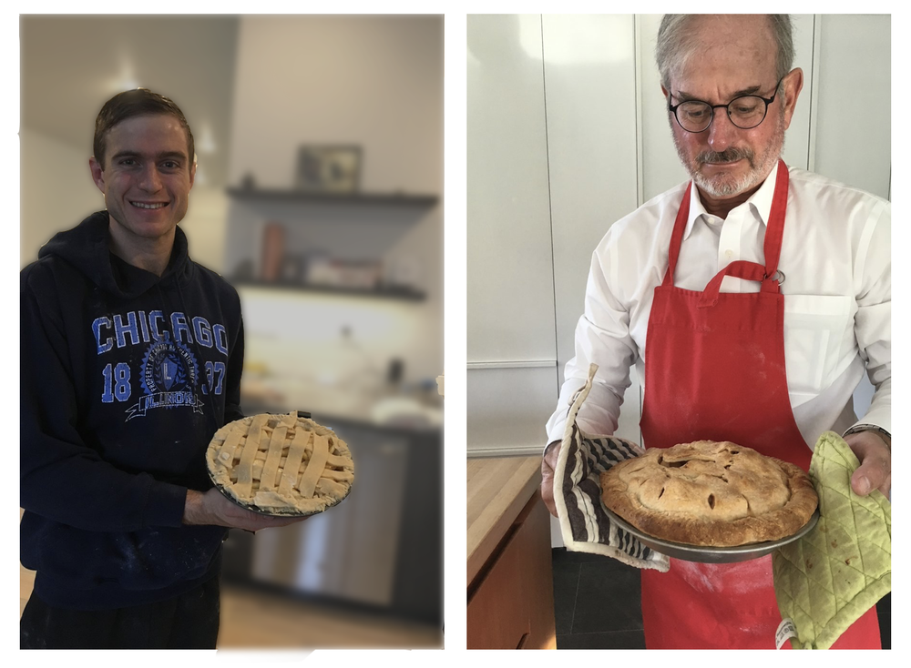 Like father, like son--pie bakers John and Eric Callow.