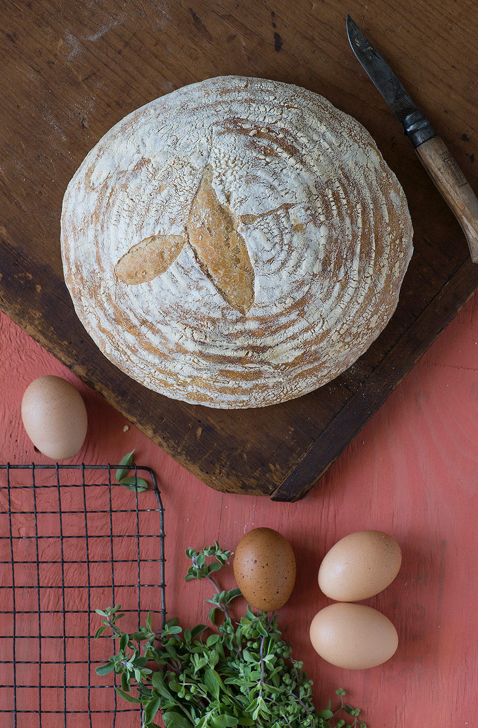 Twenty-One Hour Boule , one of the simplest recipes for so much deliciousness. Photo by  Ann Cutting.