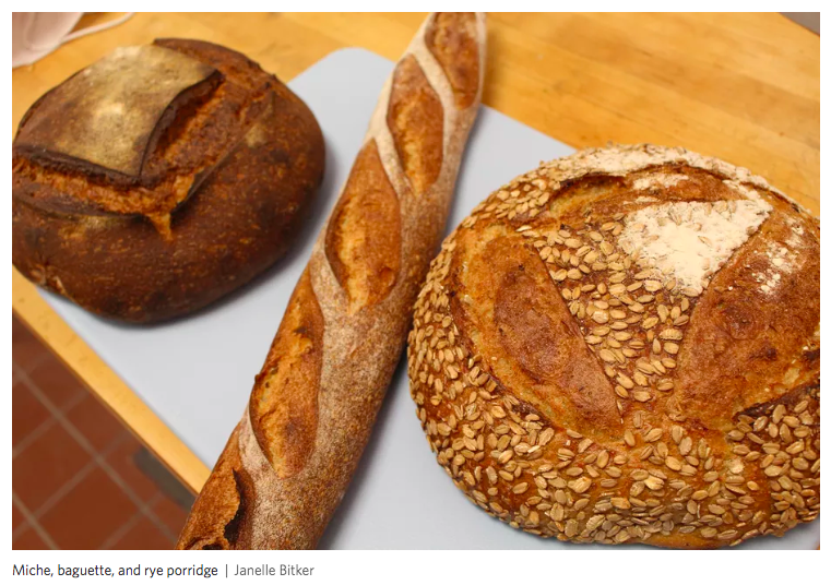 "EATER SF - ""San Leandro is getting a new, bread-focused bakery that is sure to become the envy of surrounding East Bay cities…Beyond the deeply dark crusts, what's striking about these loaves is how distinct they taste from one another."""