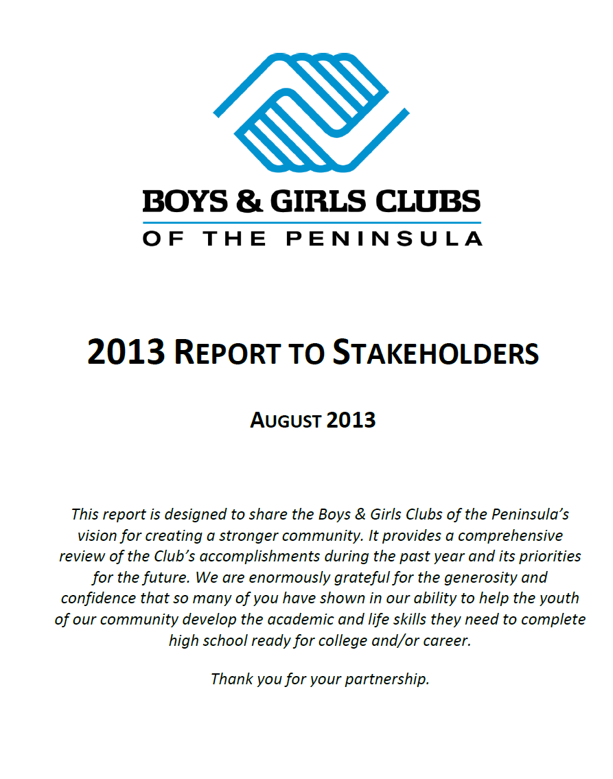 2013 Report to Stakeholders