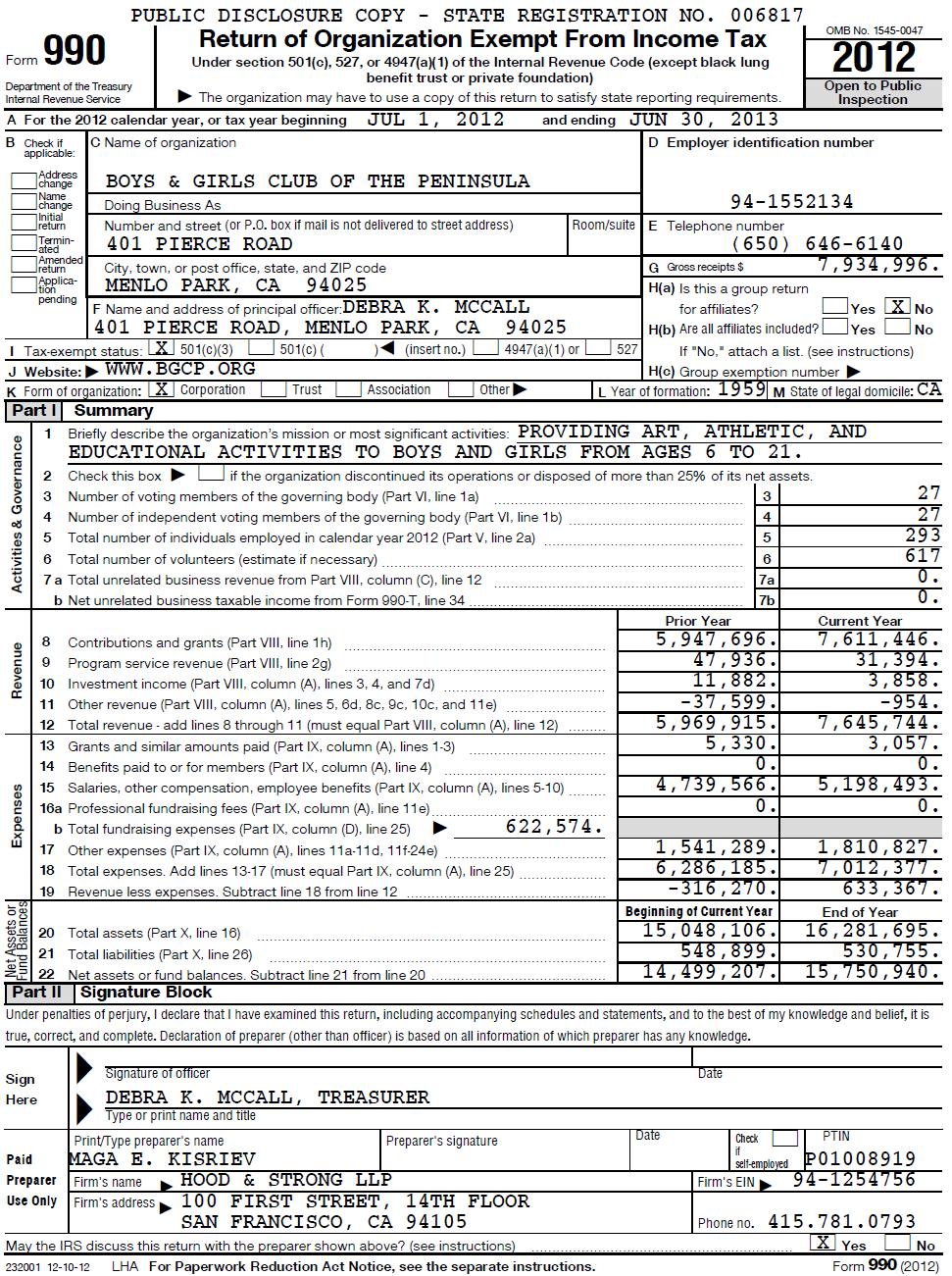 IRS Form 990 - 2013