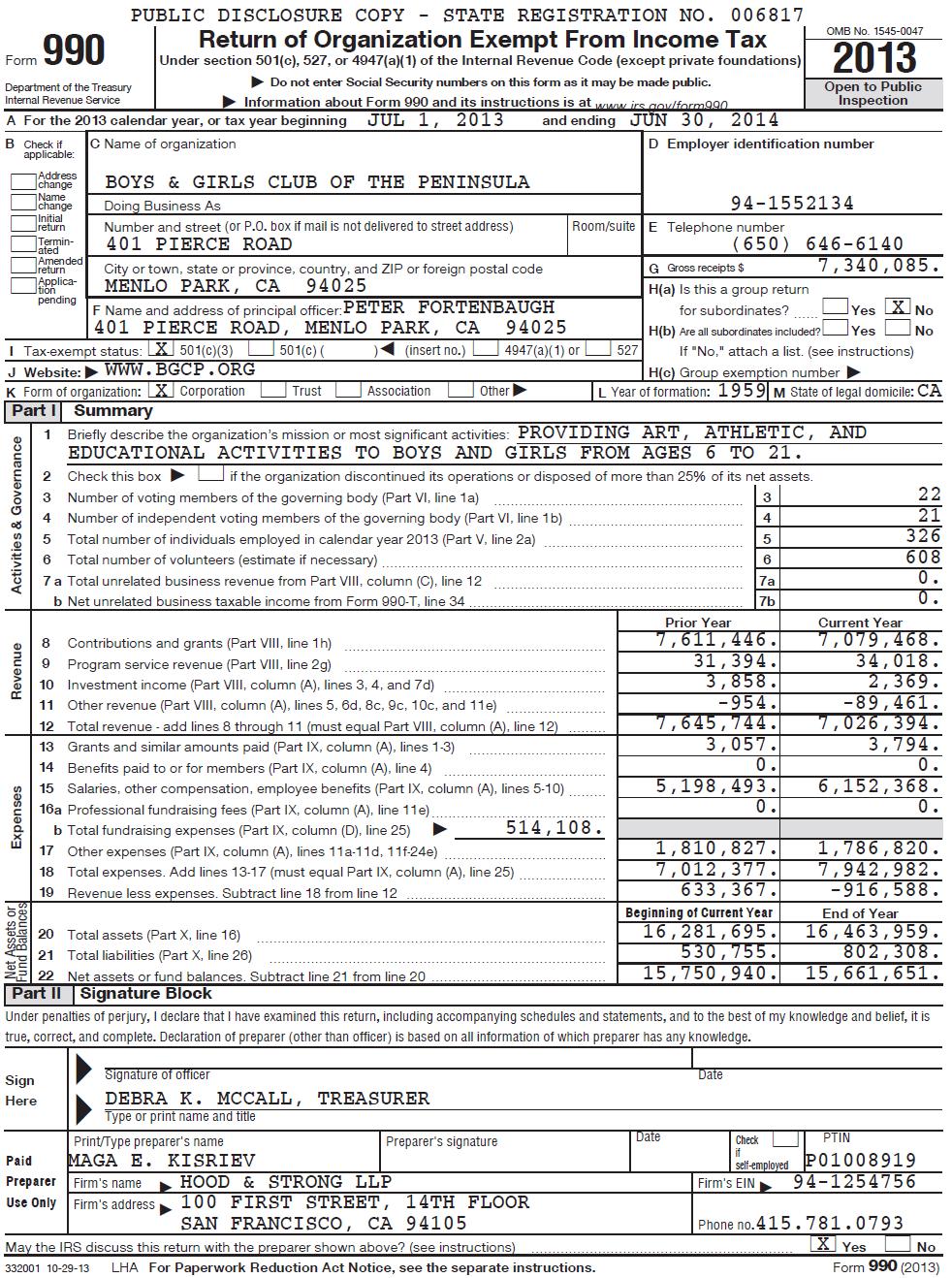 IRS Form 990 - 2014
