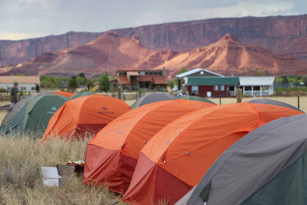 Castle Valley tent city