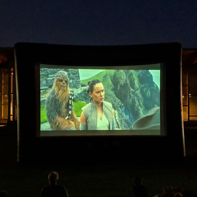 Last Jedi at the final Movies on the Hill of 2018! @hylandhills