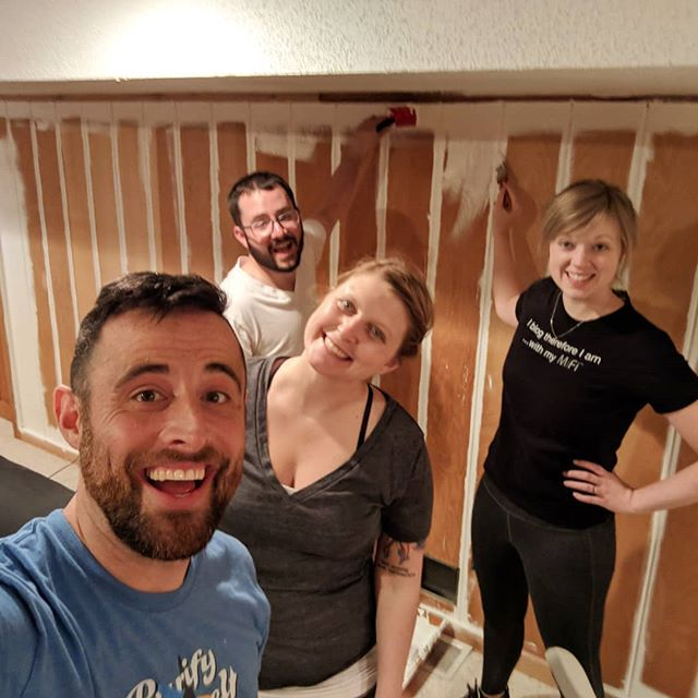 Nothing better than a good old fashioned painting party with good friends.