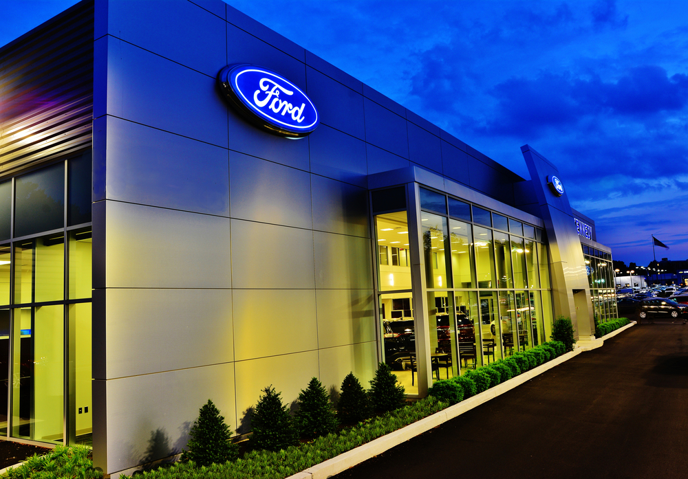 Take a look at the night photo we did for Ford.  It was shot from the bed of a pickup truck on a tall tripod so the angle would be right. Notice the clarity of the cars inside the showroom.  Secret sauce?  No, just impeccable shot discipline. You will be thrilled with your images, and you will still have the best virtual tour available anywhere.