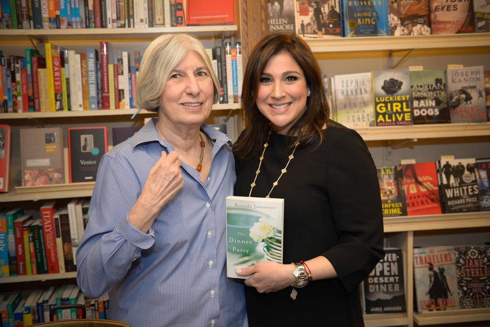 With Lenny, owner of the Corner Bookstore