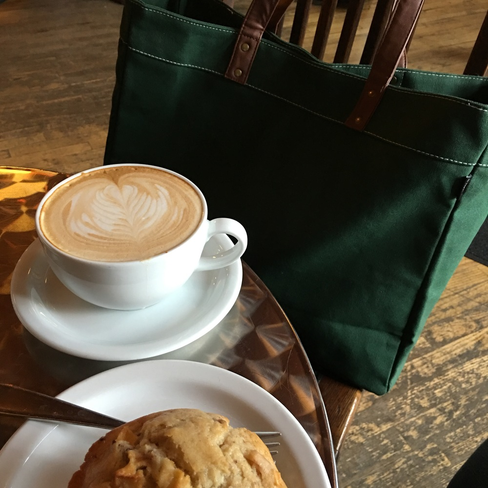 Coffee at Atticus and my new bag from Maika Goods