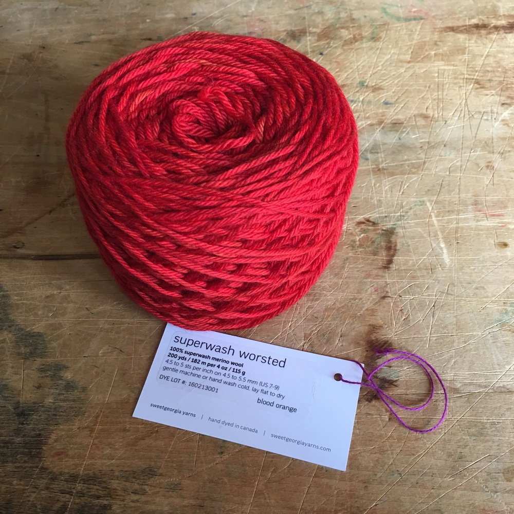 Superwash Worsted   Blood Orange
