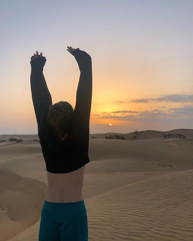 ☀️Arabian mornings ☀️ Just spent a week exploring a country I hadn't heard of before @vilcsak suggested we go there. We camped in desert dunes, waded through wadis, swam an ocean sinkhole, visited a stunning mosque, and lingered at a local souq (market). So grateful to have been introduced to the light and beauty of the Middle East alongside a partner who continually expands my heart and horizons 🕌🇴🇲🐪💕💐🌊 #traveloman #love