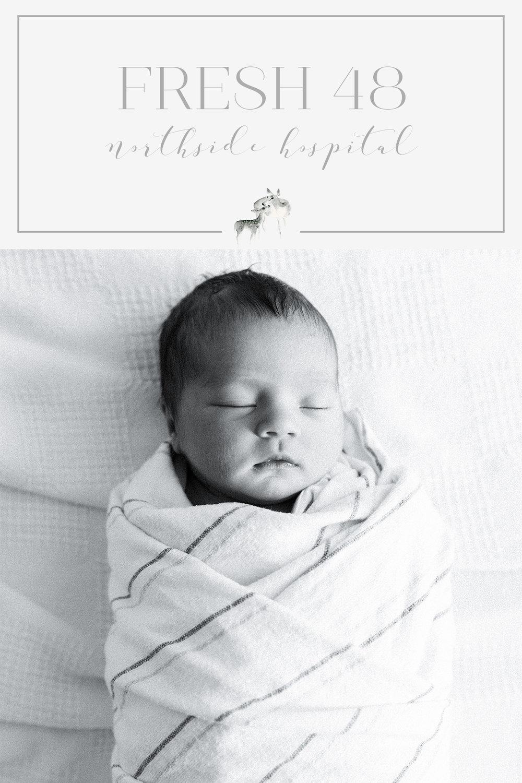 Fresh 48 atlanta northside hospital newborn photographer