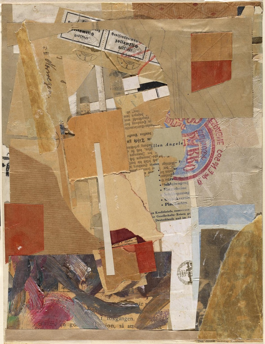 Opened by Customs   ,  Kurt Schwitters (1937–8)