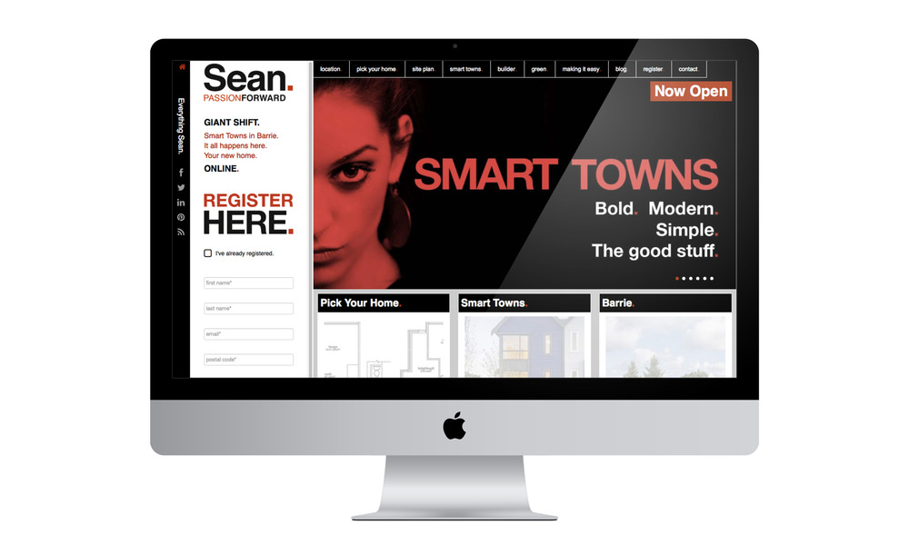 Sean homes is all about design. Typographic design for a smart consumer