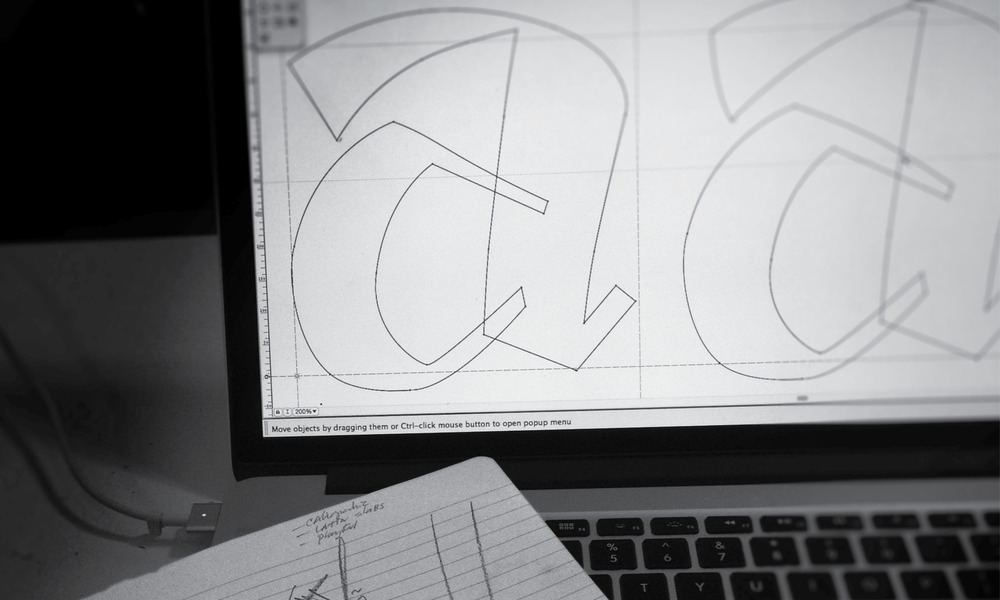 Custom font design: work in progress