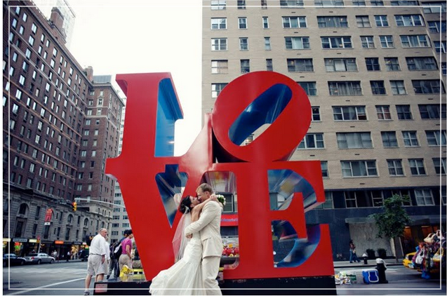 Robert Indiana's LOVE sculpture, 6th Ave., Manhattan Photo credit: mercinewyork.blogspot.com