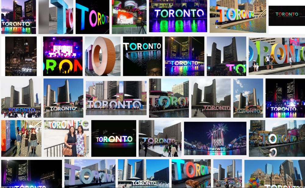 Photo from screen shoat of Google Image search for Toronto 3D sign.