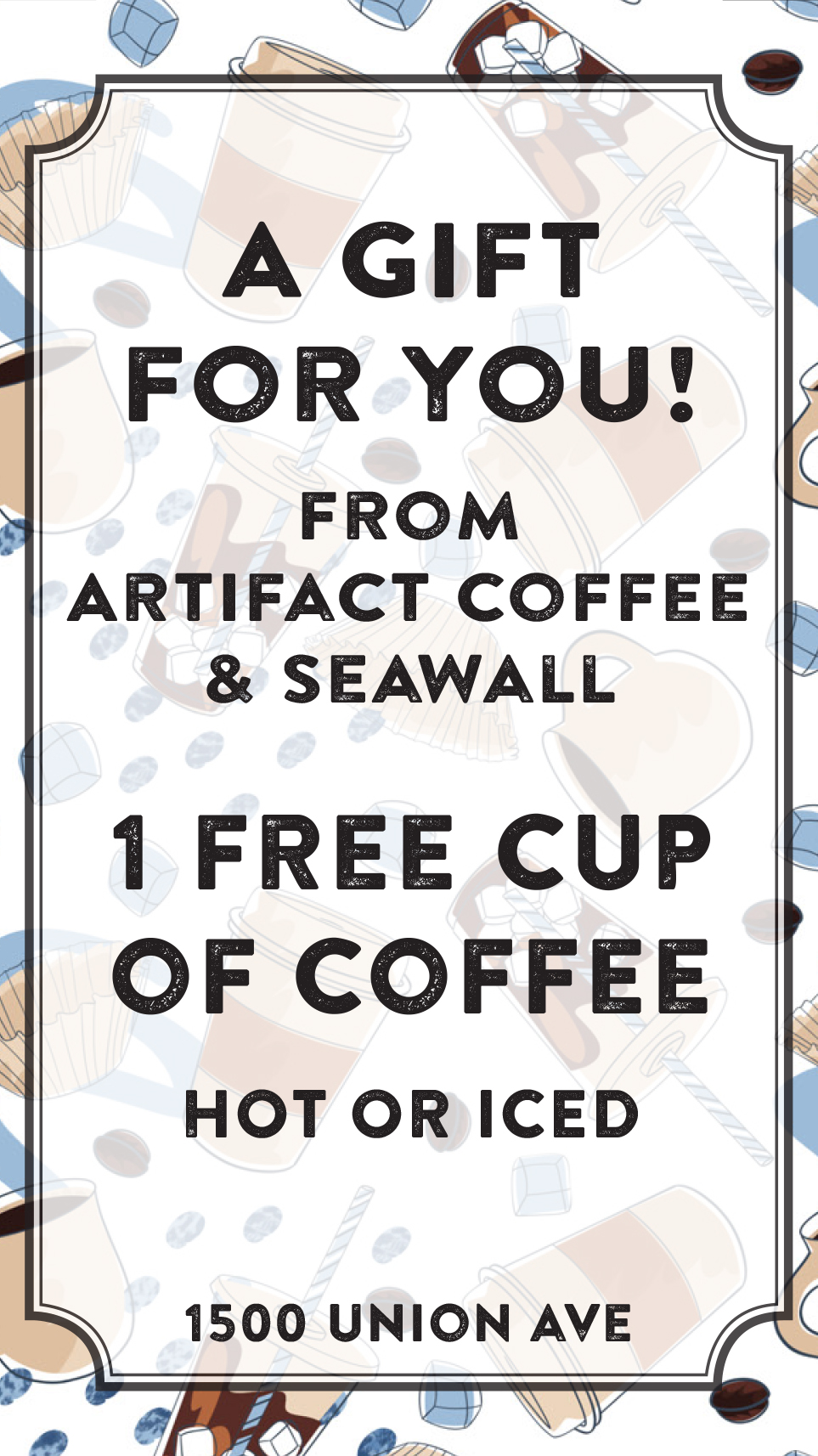 Card for Artifact Coffee  Pattern & Design