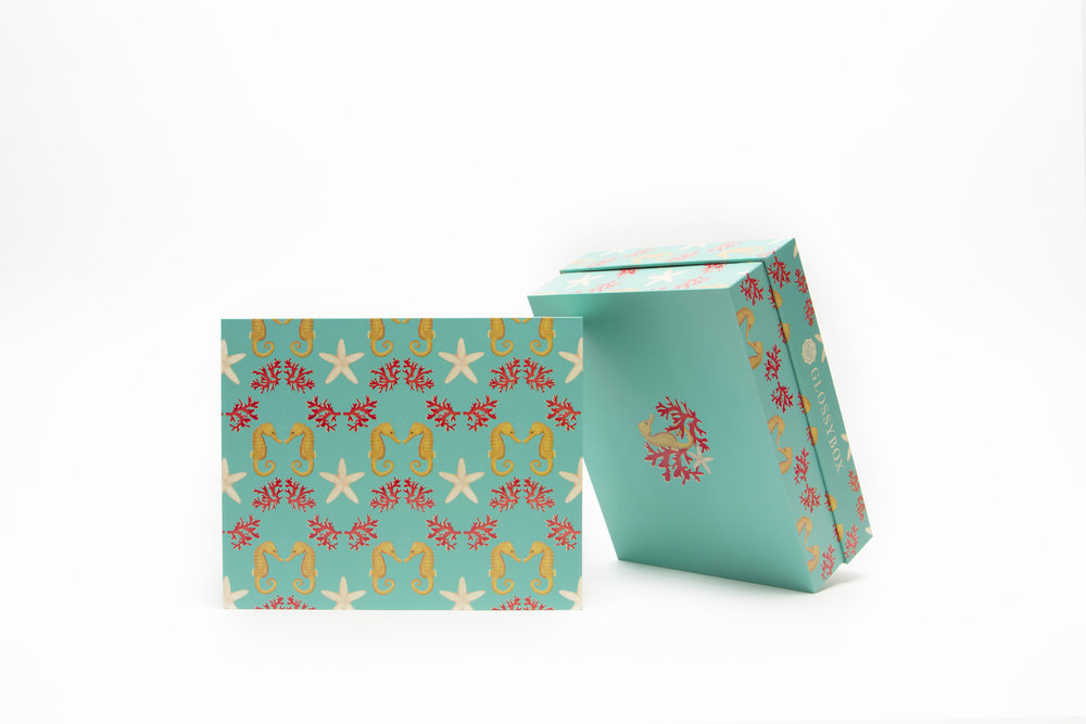 July 2018 Box Design for Glossybox   Pattern and Illustration