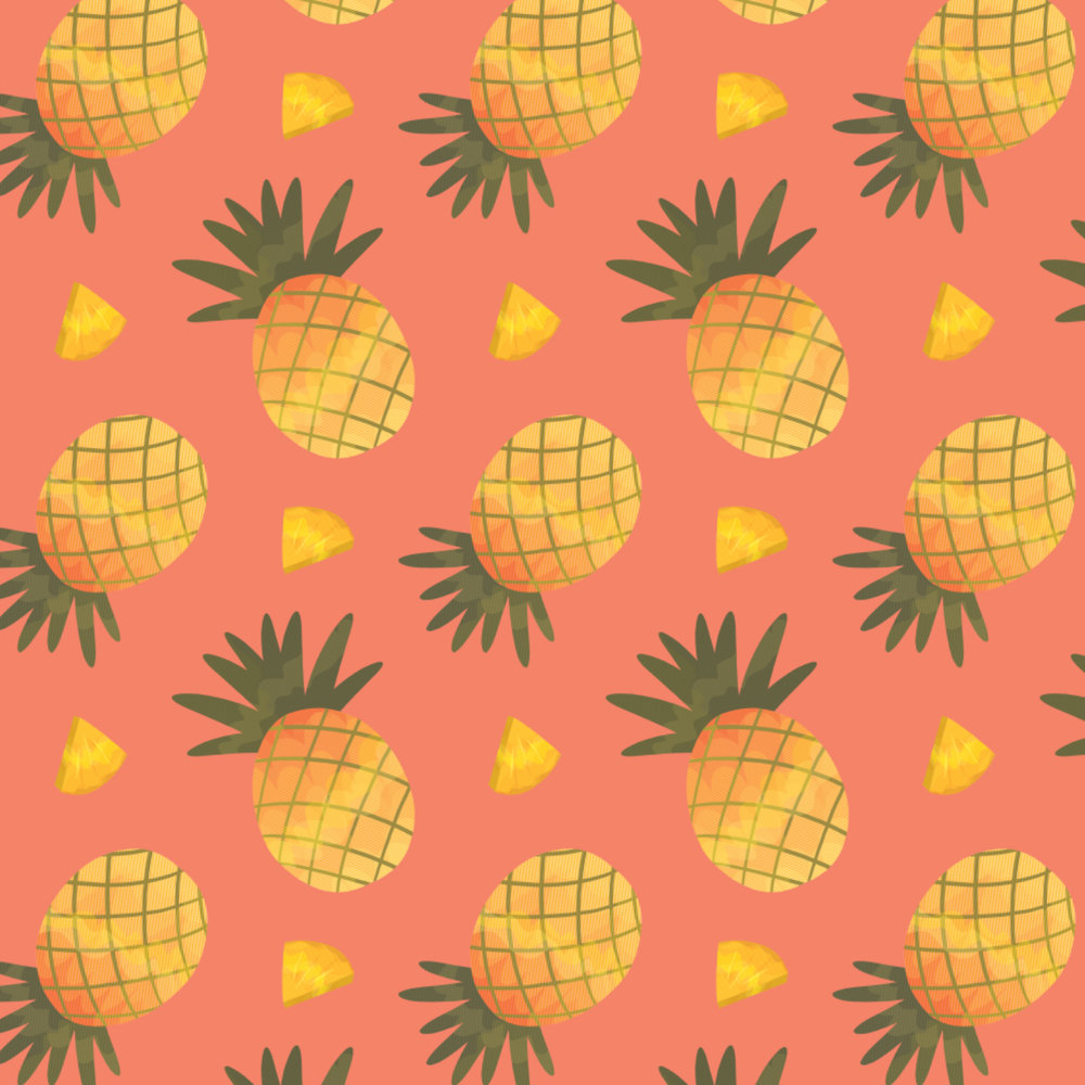 2019 Pineapple  Pattern and Illustration