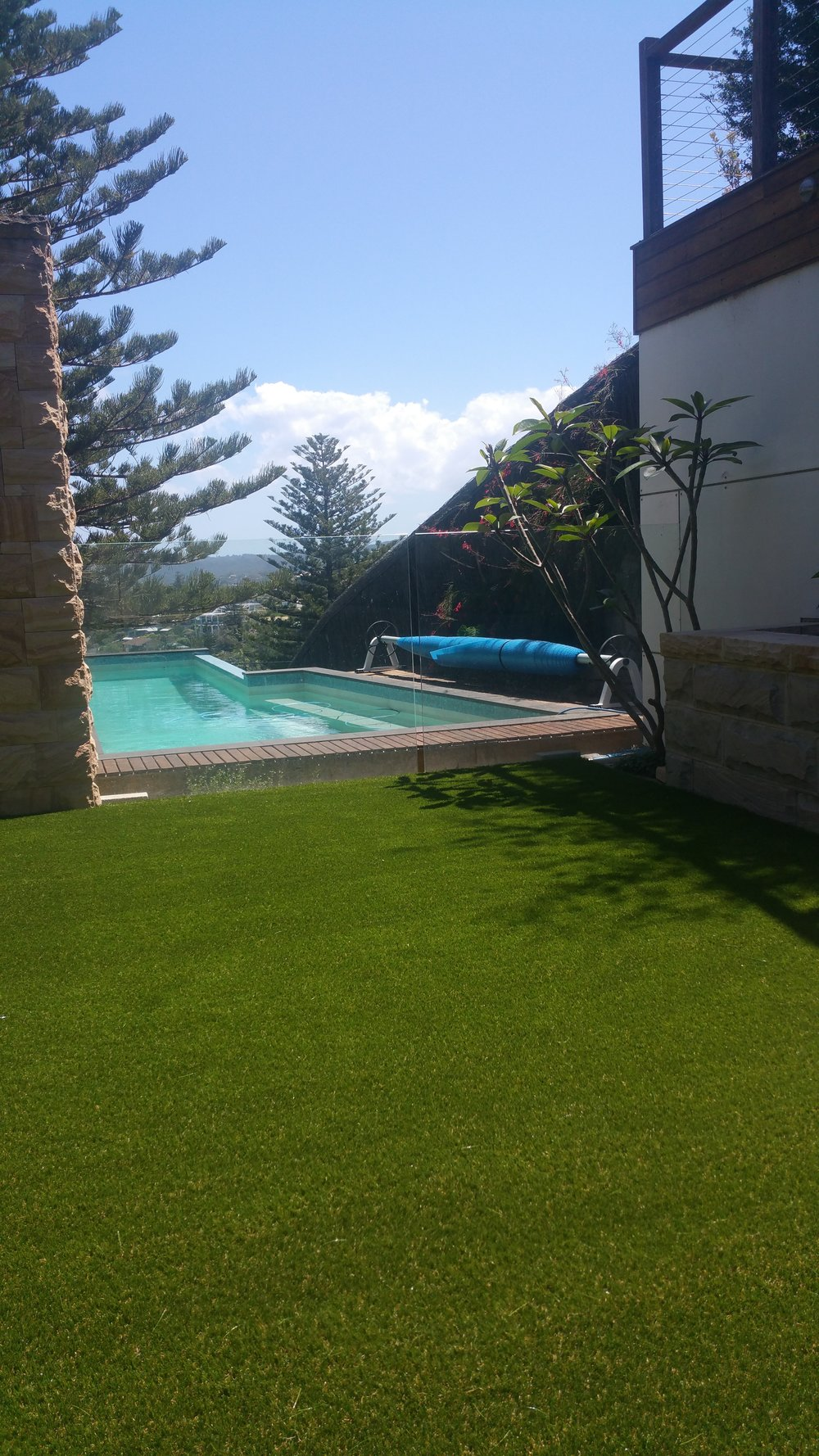 #synthetic grass and pools
