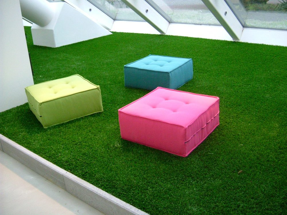 Attic   Why not make this small space inviting just by using Royal Grass.