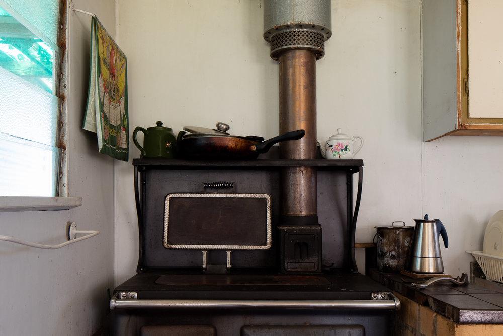 Ice fishing house wood stoves