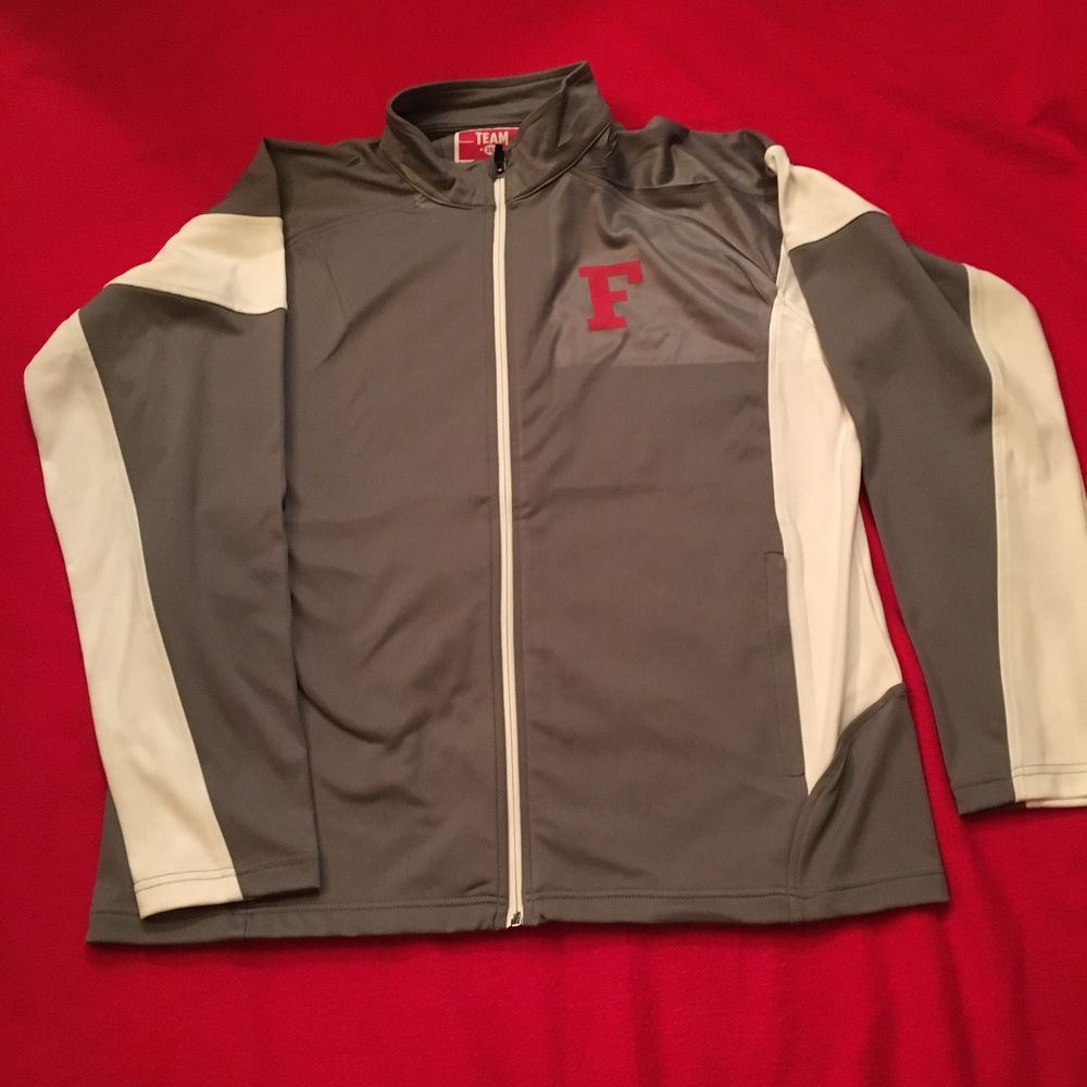 SW Men's grey/white full zip jacket w/ front logo