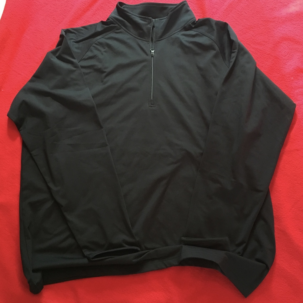 SW Sport tek black 1/4 zip w/ either embroidered or glitter logo