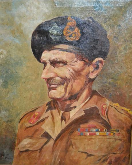 Field Marshal Bernard Law Montgomery,  , first Viscount Montgomery of Alamein (1887–1976) by terence cuneo.jpg